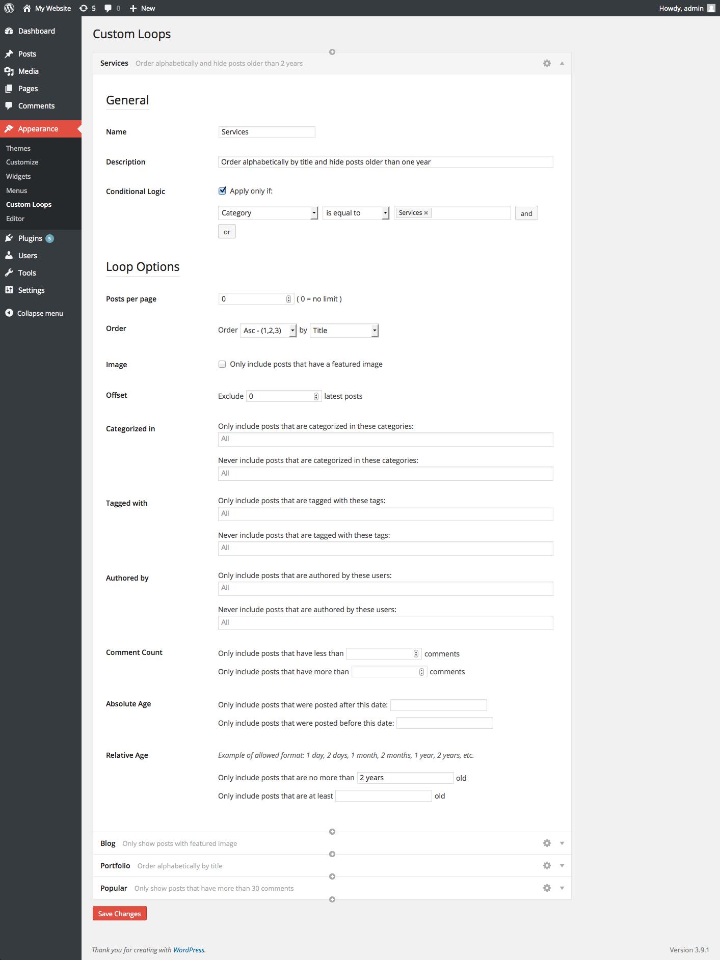 Fresh Custom Loops - WordPress Plugin