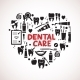 Dental Care Symbols in the Shape of Heart - GraphicRiver Item for Sale
