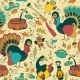 Seamless Texture with the Thanksgiving Day Icons - GraphicRiver Item for Sale