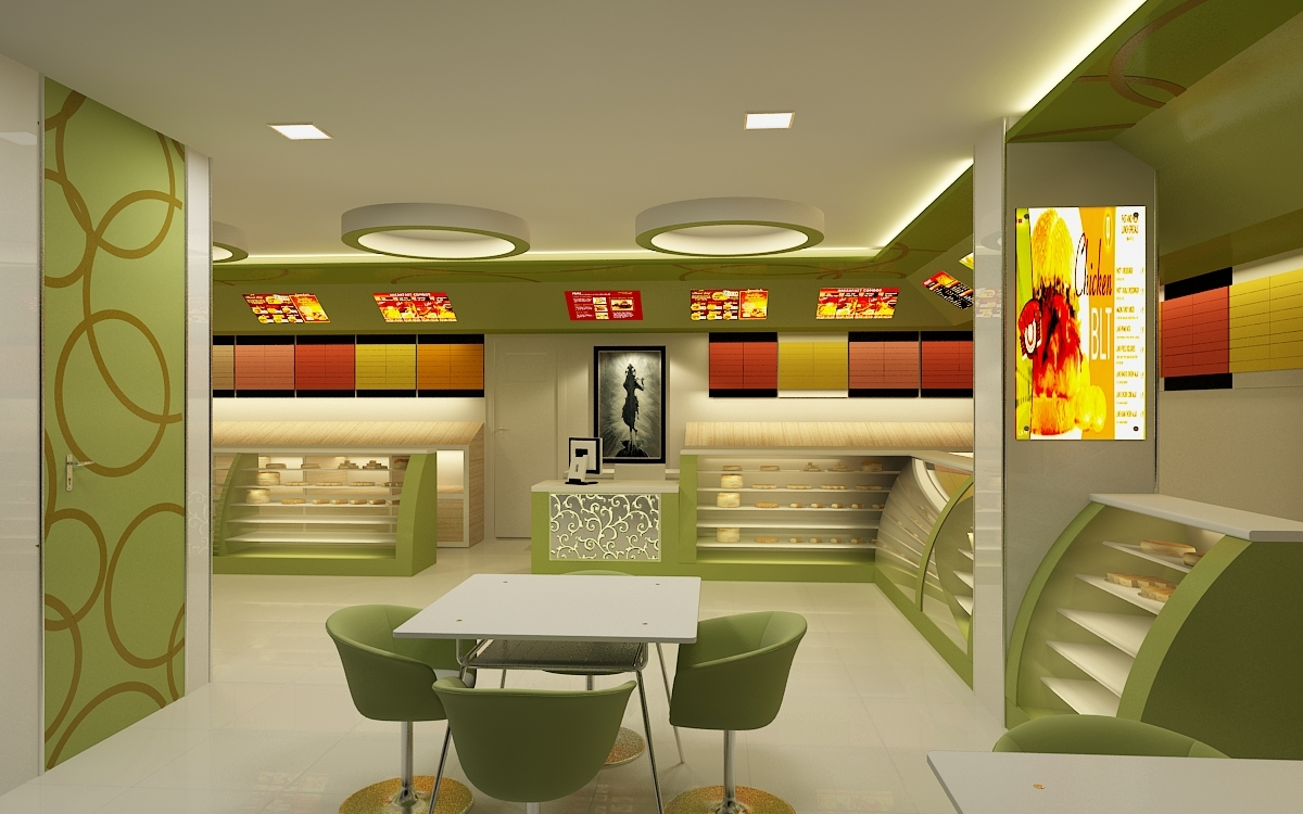 Realistic Bakery Shop Interior 126_1 ...