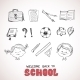 School Objects, Sketch Style - GraphicRiver Item for Sale