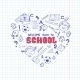 School Objects in the Shape of Heart. - GraphicRiver Item for Sale