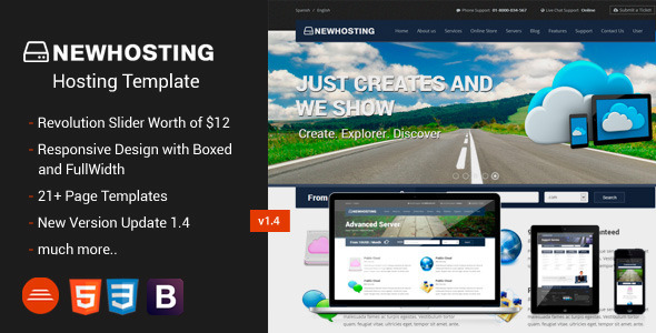 NewHosting – Responsive Hosting Css3/Html5 Theme