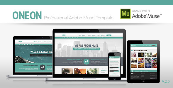 Oneon | Adobe Muse Template - Corporate Muse Templates