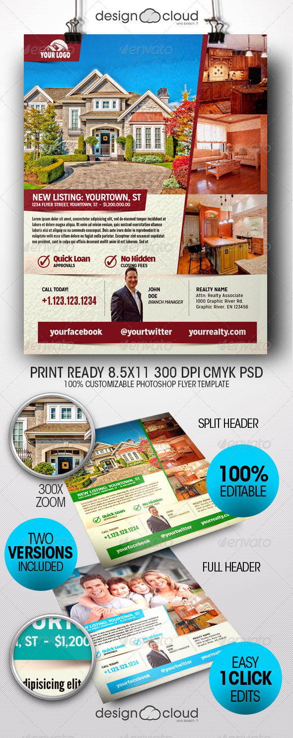 Realtor, Real Estate Flyer Templates - Miscellaneous Events