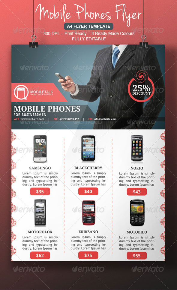 Cell Phone Flyer Template By Blogankids | Graphicriver