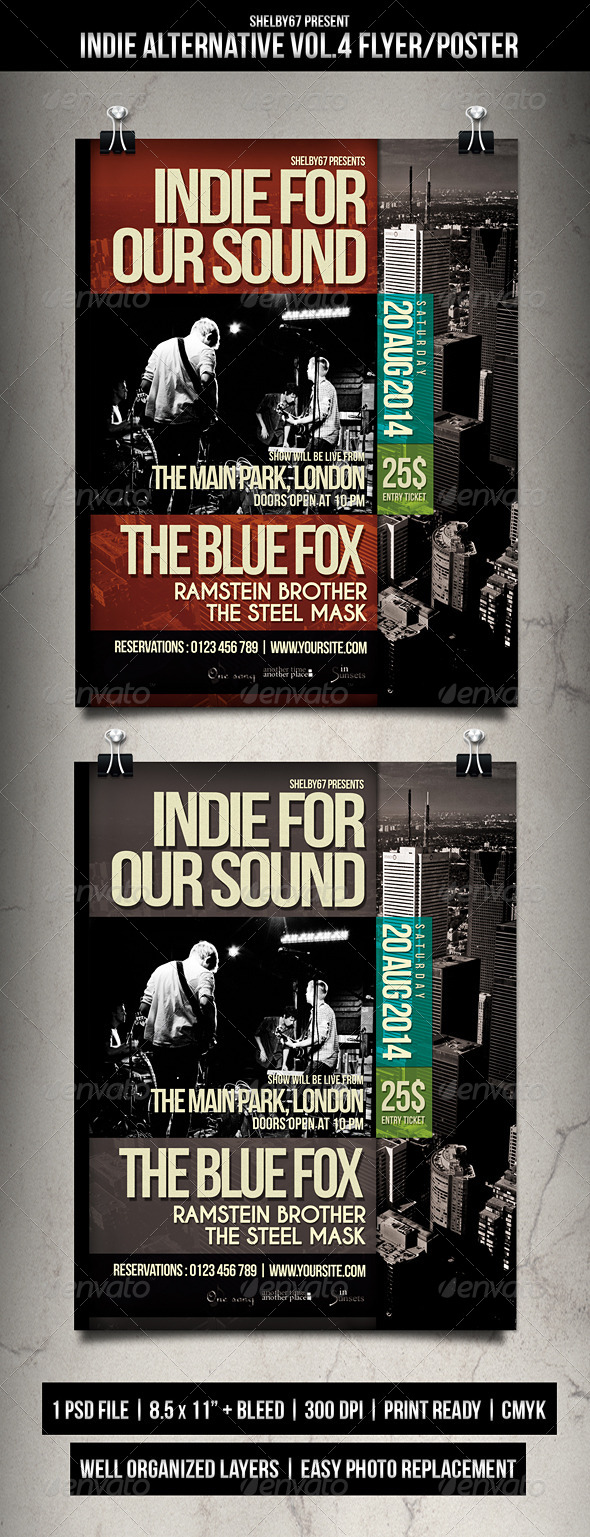Indie Alternative Flyer / Poster Vol.4 - Events Flyers