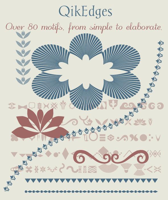 QikEdges - edges & borders font - Ding-bats Fonts