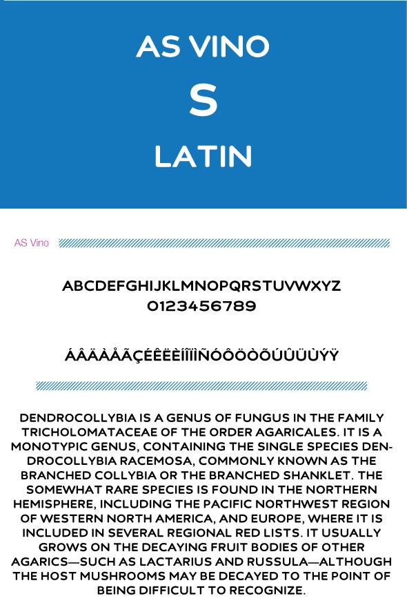 AS Vino - Sans-Serif Fonts
