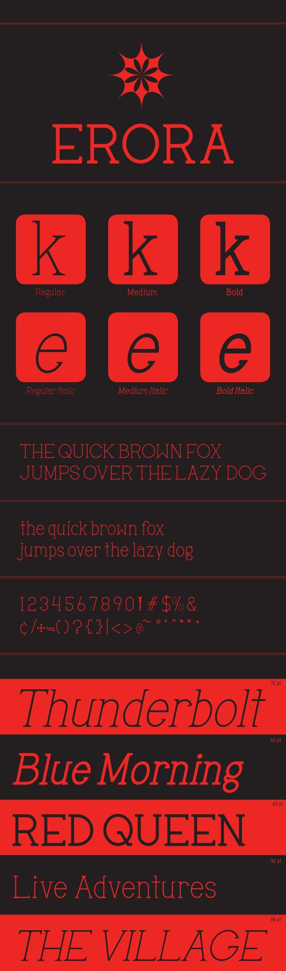 Erora - Serif Fonts