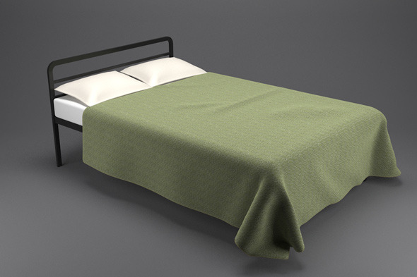 Simple Bed - 3DOcean Item for Sale