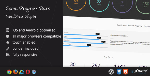 Zoom Progress Bars - WordPress Plugin - CodeCanyon Item for Sale