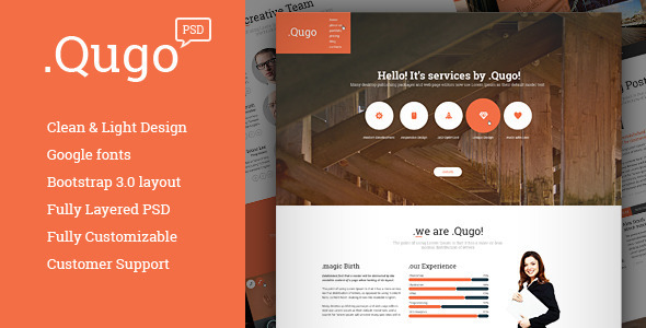 .Qugo - creative Multi-Purpose PSD Theme - Corporate PSD Templates