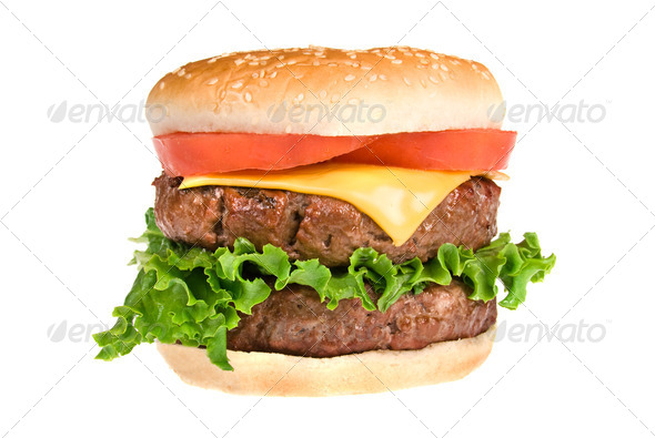 Juicy hamburger - Stock Photo - Images