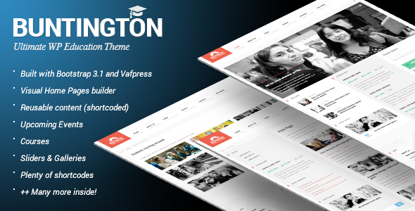 Buntington – Education WP Theme