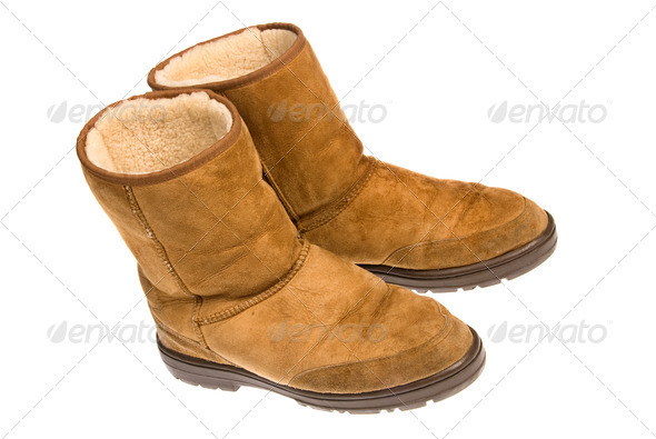 Leather boots - Stock Photo - Images