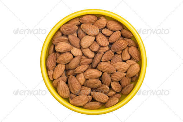 Bowl of Almonds - Stock Photo - Images