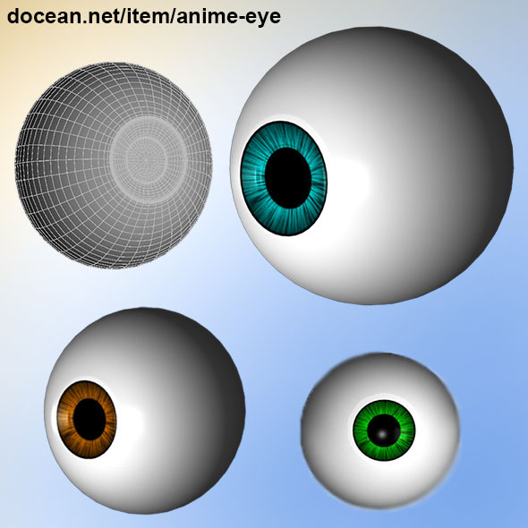 Anime Eye  - 3DOcean Item for Sale