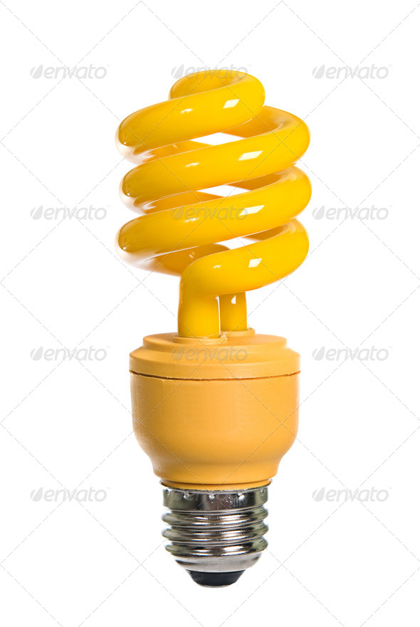Yellow light bulb - Stock Photo - Images