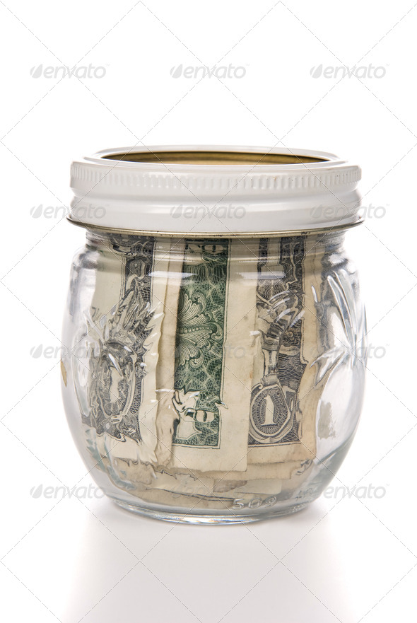Jar of cash - Stock Photo - Images