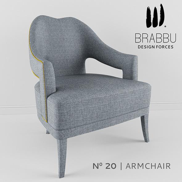 Brabbu - ?20 Armchair - 3DOcean Item for Sale