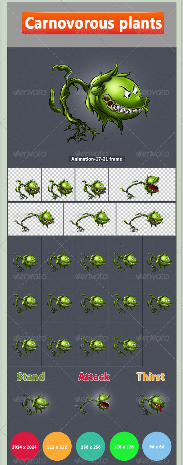 Carnivorous Plant - Sprites Game Assets