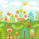 Floral Background with Ladybirds - GraphicRiver Item for Sale