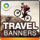Travel & Tourism Web Banner Ads - GraphicRiver Item for Sale