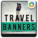 Travel & Vacation Banners - GraphicRiver Item for Sale