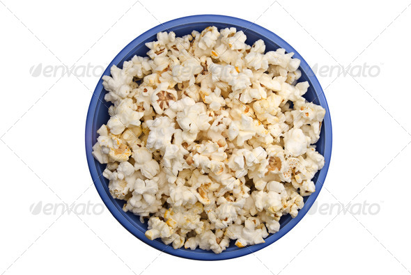 Bowl of popcorn - Stock Photo - Images