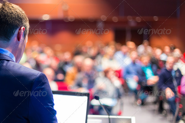 Speaker at Business Conference and Presentation. - Stock Photo - Images