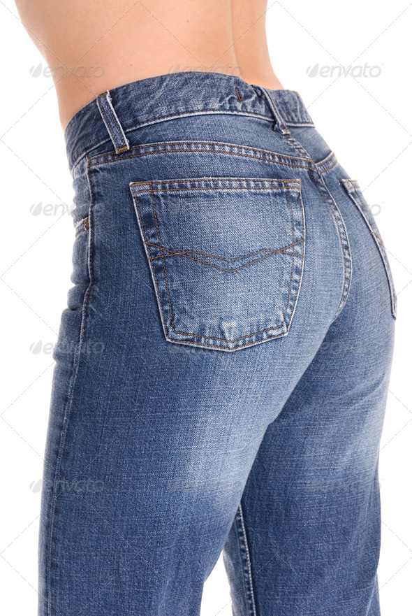 Tight fitting jeans - Stock Photo - Images