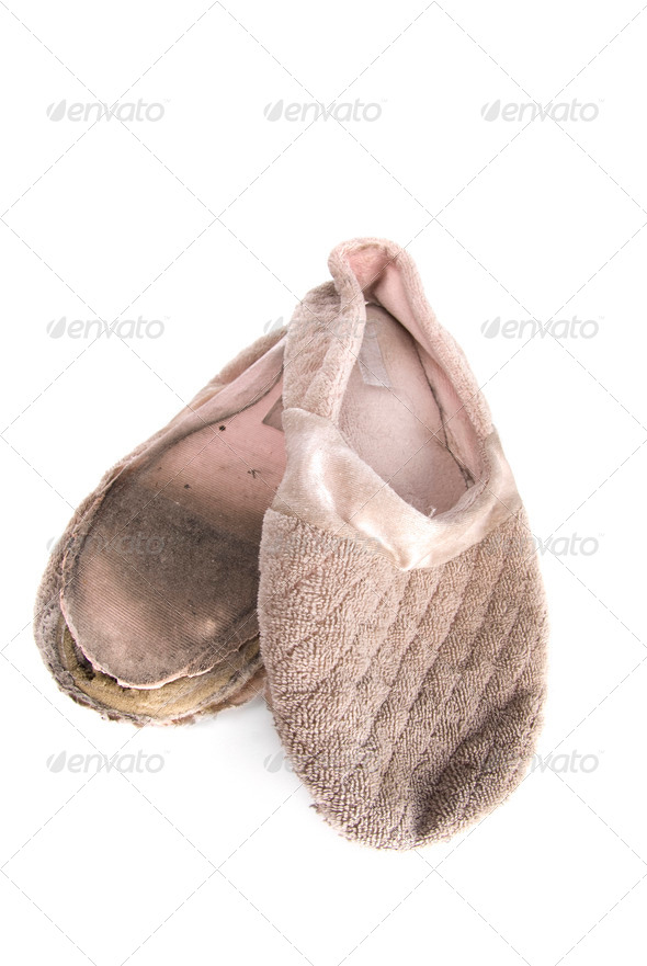 Old house slippers - Stock Photo - Images