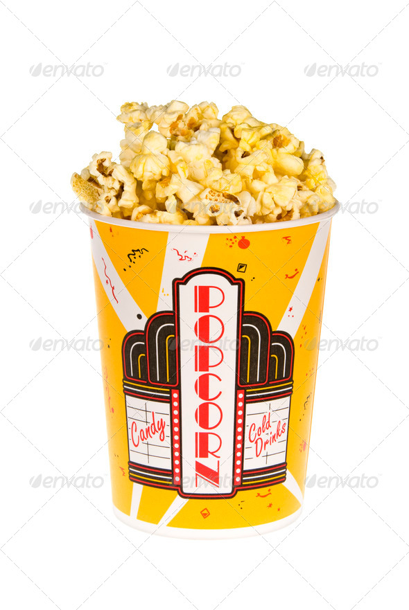 Bucket of popcorn - Stock Photo - Images