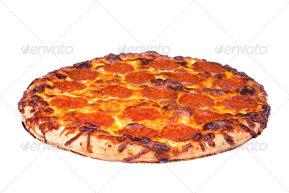 Pepperoni pizza - Stock Photo - Images