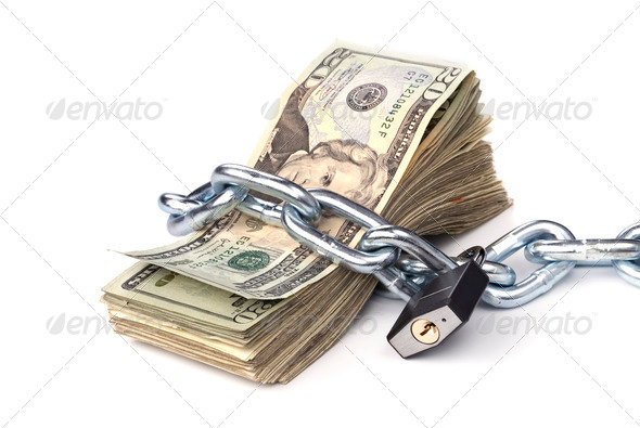 Chained up money - Stock Photo - Images