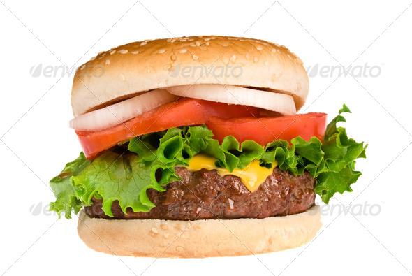 Juicy Hamburger - Stock Photo - Images