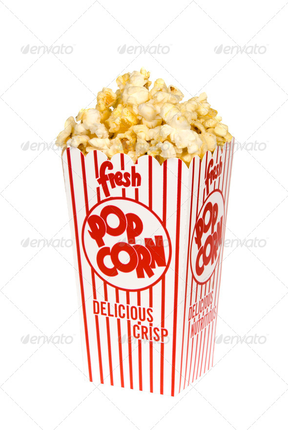 Box of popcorn - Stock Photo - Images
