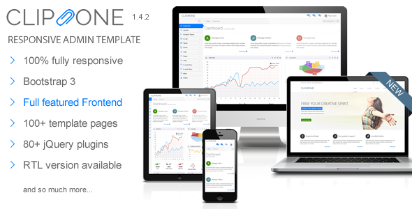 Clip-One – Bootstrap 3 Responsive Admin Template