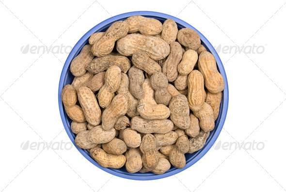 Bowl of peanuts - Stock Photo - Images