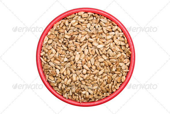 Bowl of sunflower seeds - Stock Photo - Images