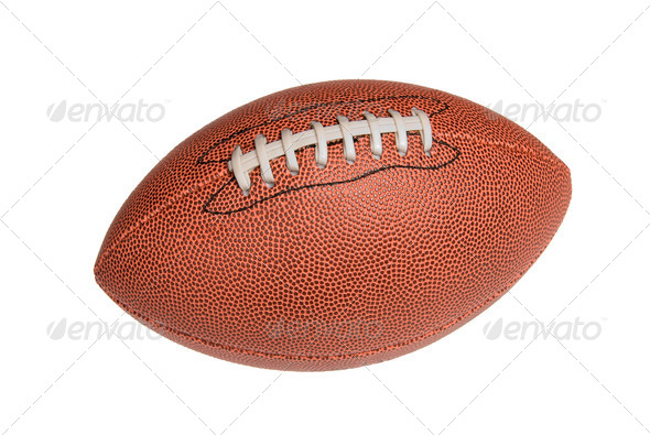 Isolated leather football - Stock Photo - Images