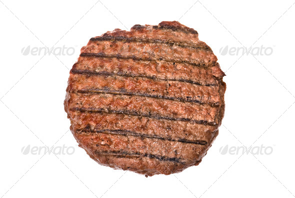Hamburger patty - Stock Photo - Images