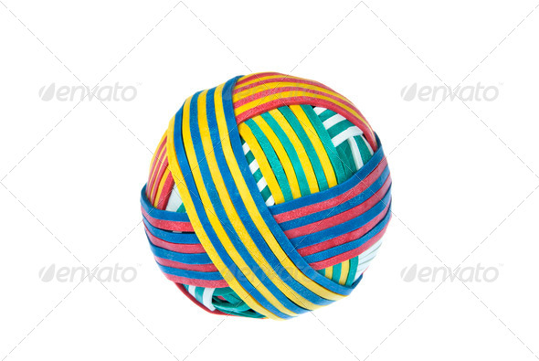 Rubber band ball - Stock Photo - Images