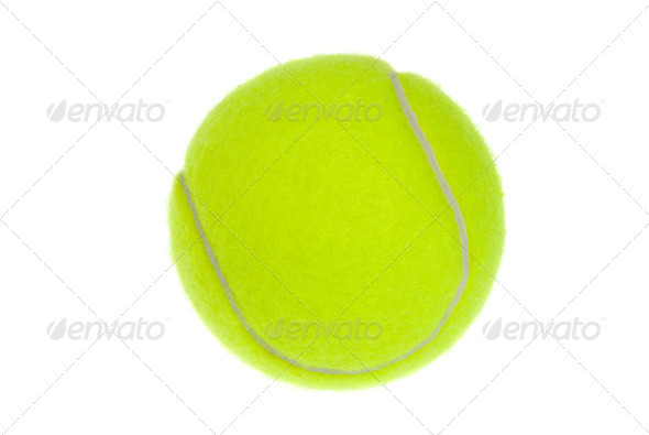 Isolated tennis ball - Stock Photo - Images