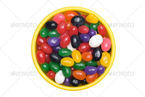 Bowl of jellybeans - Stock Photo - Images