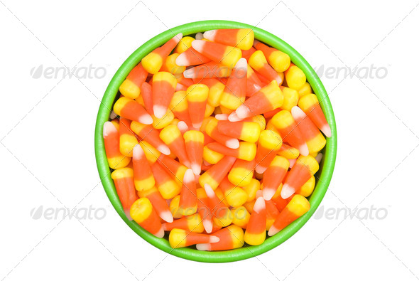 Candy Corn in Bowl - Stock Photo - Images