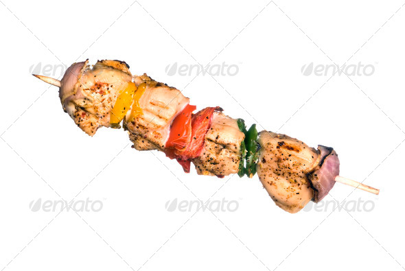 Chicken kebob - Stock Photo - Images