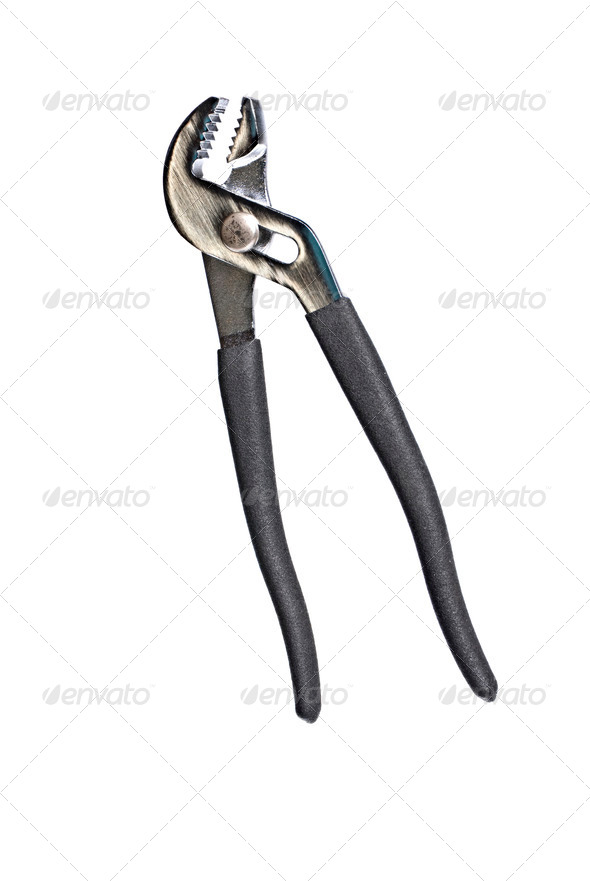 New pliers isolated on a white background - Stock Photo - Images