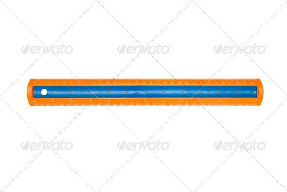 New plastic ruler - Stock Photo - Images